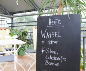 Speißekarte im Café
